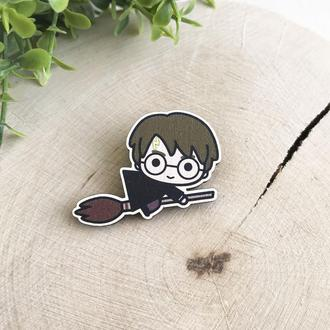 "Значок из дерева ""Гарри Поттер"""