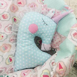 подушка игрушка единорог подарки для детей декор в детскую подушка обнимашка
