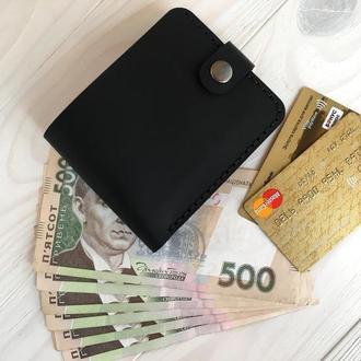 Женский кожаный кошелек Goose™ Montis черный с монетницей