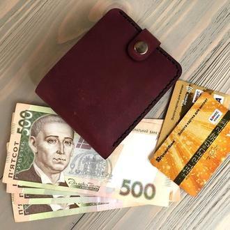 Мужской кожаный кошелек Goose™ Montis марсала с монетницей