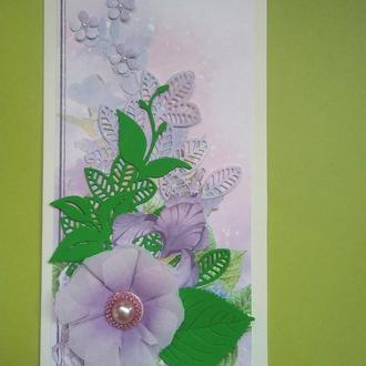 Открытка в коробочке Цветок Prima