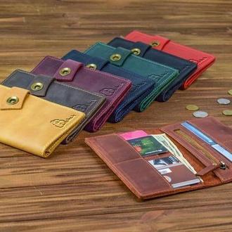 Женский кошелек, кожаный органайзер, портмоне из натуральной кожи, подарок для нее