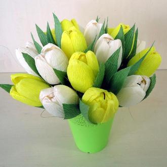 Тюльпаны из конфет (букет из конфет)
