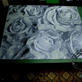 Картина для укладки на любую поверхность из мозаики. Розы.
