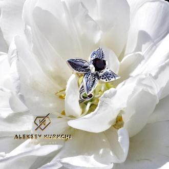 """оригинальное кольцо """" Аленький цветочек"""""""