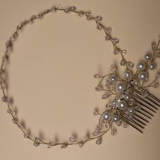 Гребінець для вечірньої або весільної зачіски