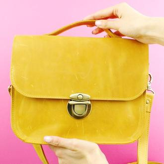 Жіноча сумка через плече - шкіряна сумка