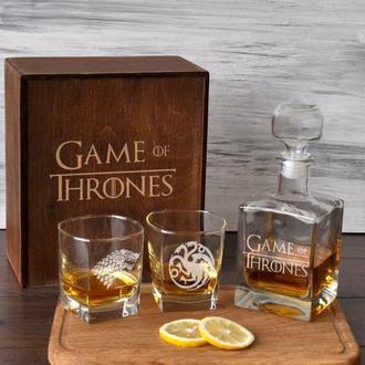 Стеклянный набор для виски с гравировкой «Игра Престолов»