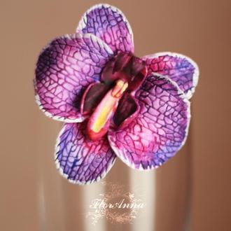 "Заколка цветок ""Фиолетовая орхидея"""