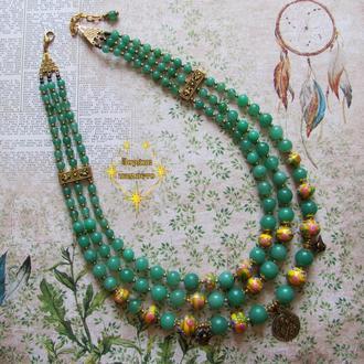 Ожерелье-згарда 'Первые весенние цветы'
