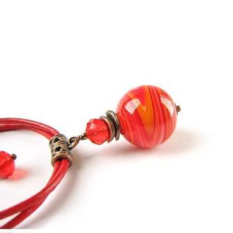 Браслет «Все простое» (№ 59) красный