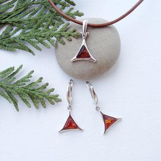 Янтарный комплект Бермудский треугольник
