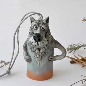 """Колокольчик """" Волк"""" сувенир в виде волка"""