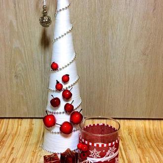 Новогодняя елочка с подсвечником на подставке
