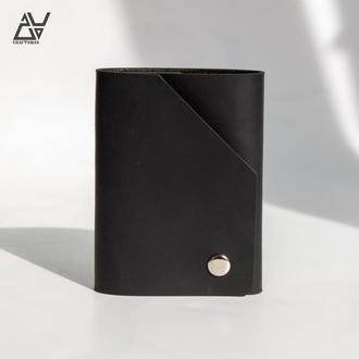 Мини кошелек из натуральной кожи. (WU.MINI002 black)