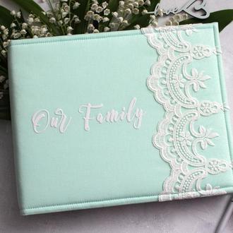 Сімейний альбом, Весільний альбом, Подарок на годовщину свадьбы, Свадебный мятный альбом