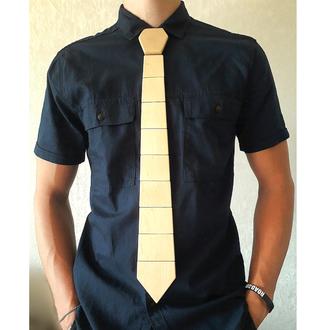 Деревянный галстук Классический (Бежевый)