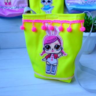 Детская маленькая сумочка с куклой Лол 02// Дитяча маленька сумочка з лялькою Лол 02