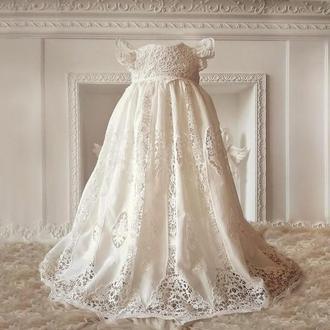 Шикарное крестильное платье Винтаж