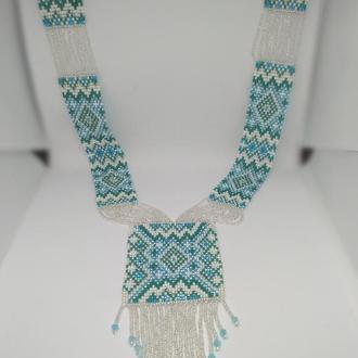 Голубой гердан в этно стиле