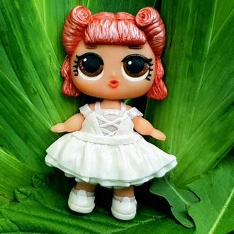 Брошка для дівчинки з лялькою ЛОЛ з полімерної глини