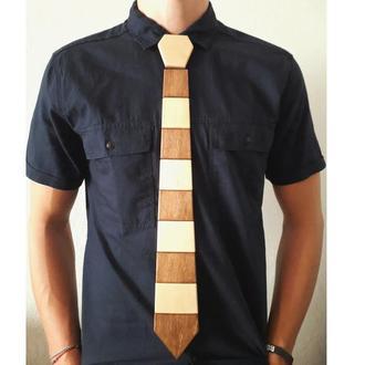 Деревянный галстук Классический (Полосатый версия 2)