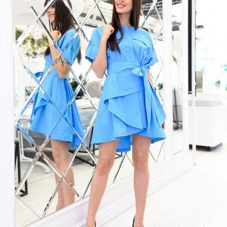 Платье-рубашка из коттона