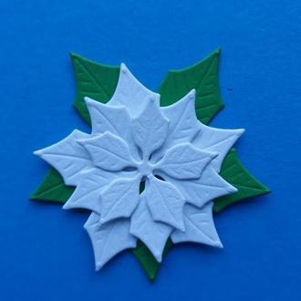 6 см вырубка пуансетия, Рождественский цветок, декор для скрапбукинга