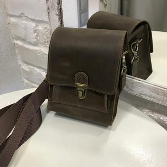 Мужская повседневная мини сумка. Небольшая мужская сумка.