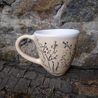 """Керамічна чашка """"Природні мотиви"""", об'єм 300мл"""