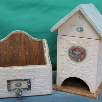 Комплект чайный домик и короб