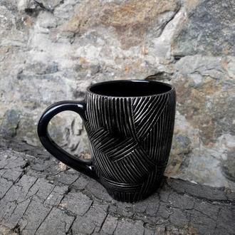 """Чашка керамічна """"Тактильність"""", об'єм 400мл"""