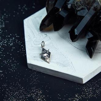 """Кулон из серебра 925п с эмалью """"Сфинкс"""""""