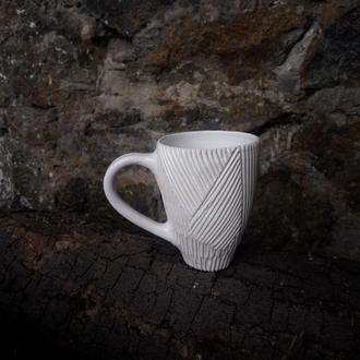 """Керамічна чашка """"Грань"""", 400мл"""