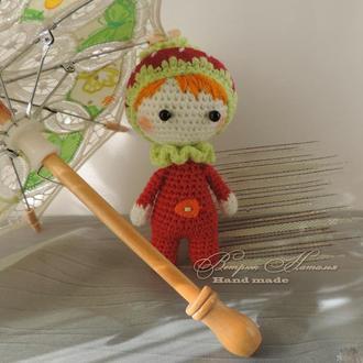 Кукла Клубника вязаная экоигрушка