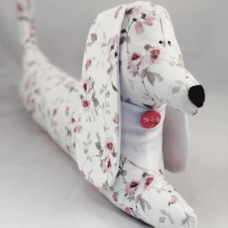 Мягкая игрушка-подушка собака. Soby. Подушка-валик. Подушка для ребенка. Гипоаллергенная подушка.