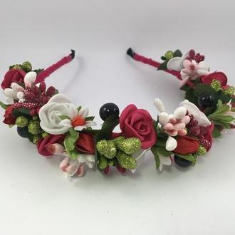 Венок на голову с цветами