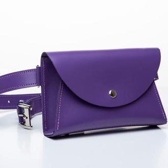 b87dce8bd488 Поясная сумка 2 в 1 Violet ручной работы купить в Украине. №459799