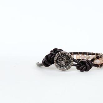 Спиральный браслет ручной работы чан лу chan luu. лунный камень