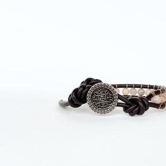 Спиральный браслет чан лу chan luu. лунный камень