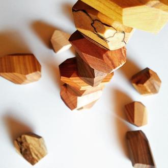 Дерев'яні камінці Тумі іши tumi ishi туми иши гора камней балансир игрушки дитячі іграшки