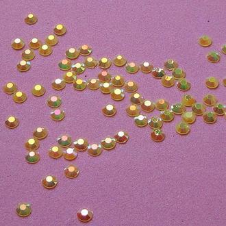 Стразы, цвет желтый (4 мм)