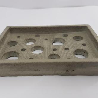 Мини мыльница из бетона 5,9см.*9 см., стиль Loft