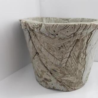 Эксклюзивное кашпо (горшок для цветов) из бетона, стиль Loft