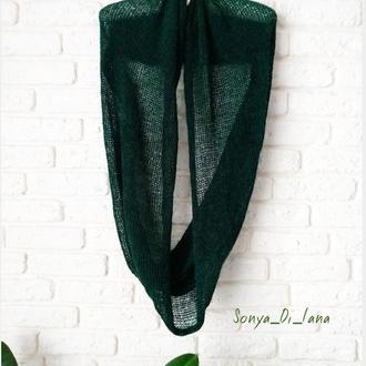 Круглый шарф из итальянского кидмохера