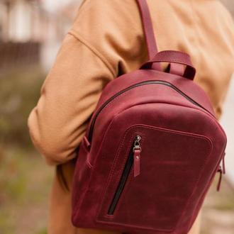 Женский кожаный рюкзак, городской рюкзак из натуральной кожи