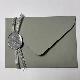 Плотный крафт конверт С6 личи