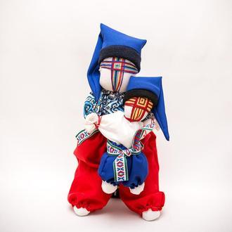 Кукла- мотанка Vikamade Крестный папа с крестником.
