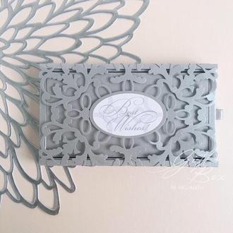 "Gift Box ""Afrodita"" Цвет 12 (серебро) - открытка в коробочке"