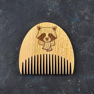 """Гребень для бороды """"Енот"""" из натурального дерева"""